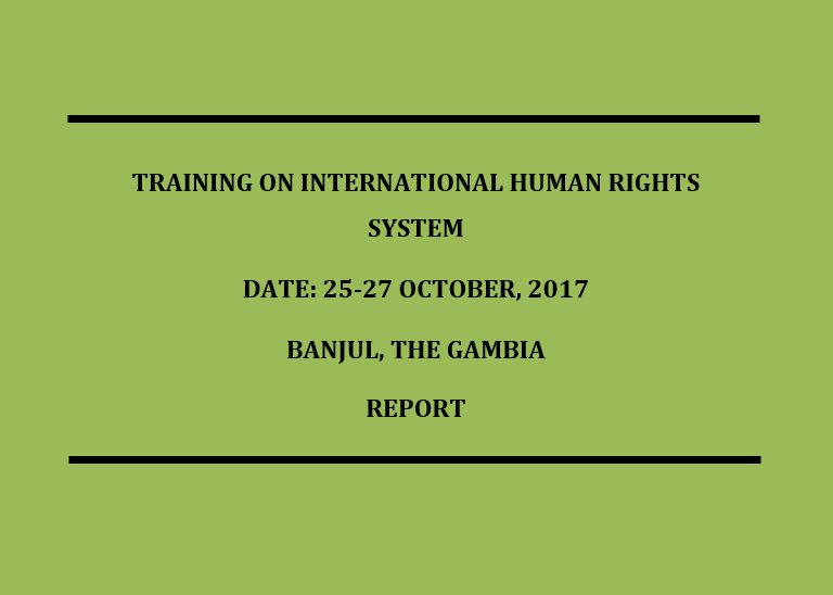 Training on International Human Rights System
