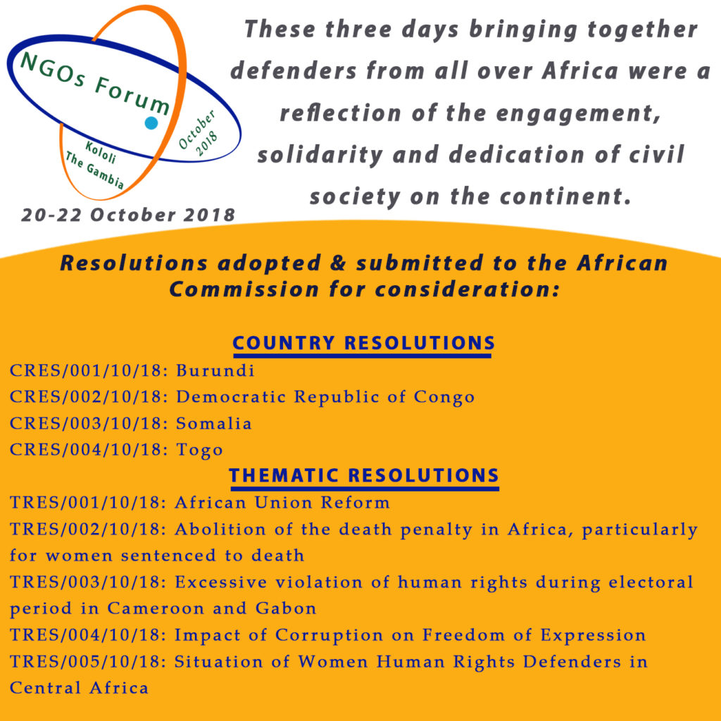 Download Here the Full List of Adopted Resolutions and Recommendations